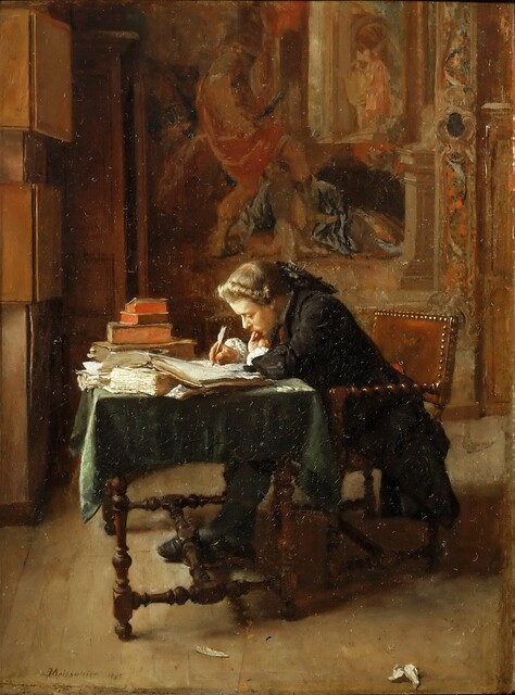 Jean Louis Ernest Meissonier Young Man Writing 1852