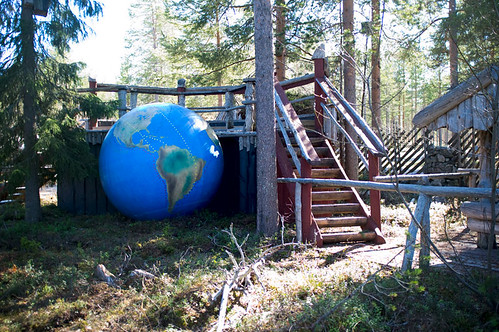 Globe in the Arctic Circle