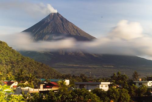 Mt. Mayon over Legazpi City
