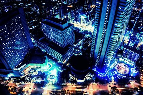 Night in Nishi-Shinjuku by hidesax