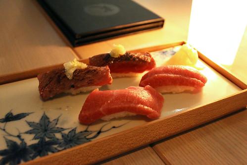 O toro & Wagyu Nigiri