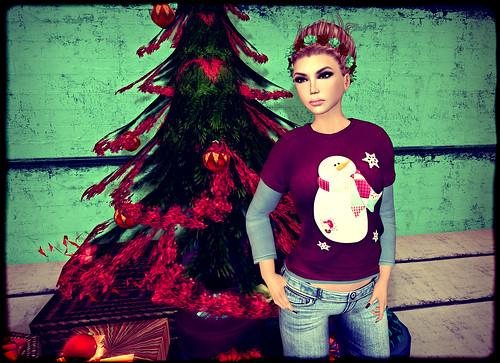 NiNight Creations - Christmas Market Event - Women's Long Christmas Sleeve T-shirt 1 by Tigist Sapphire
