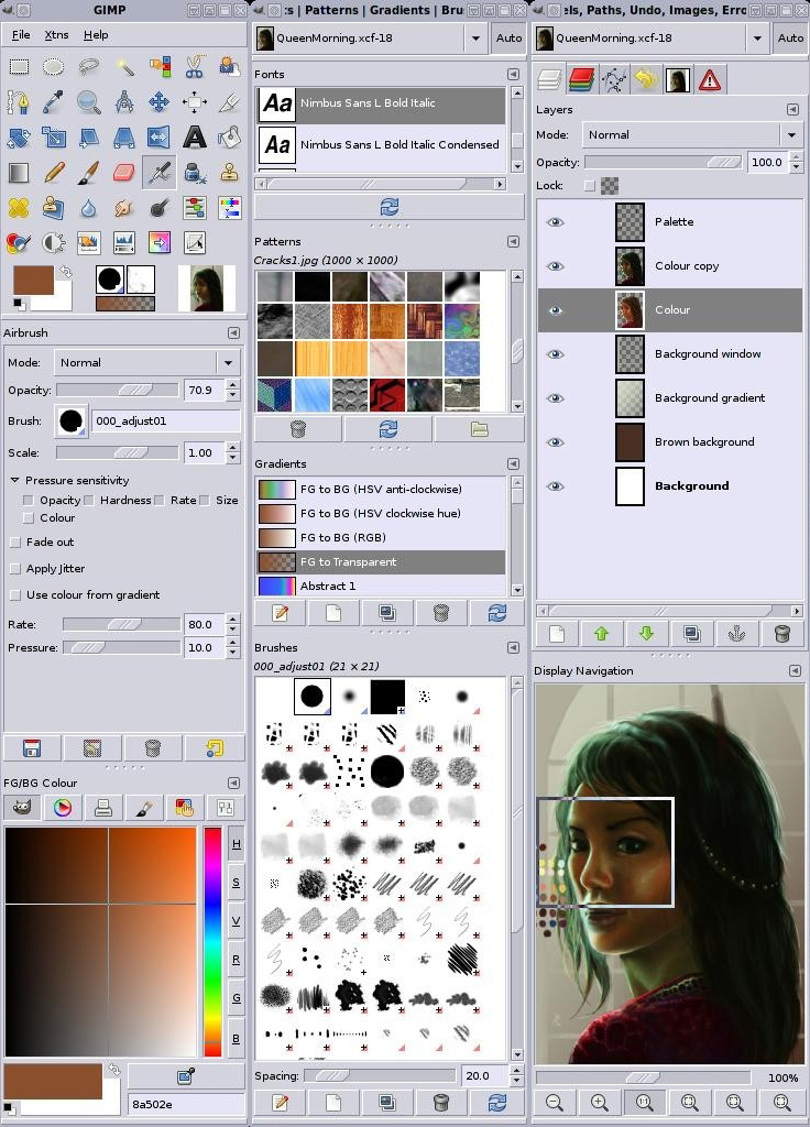 Free photography and image editing softwares - Gimp