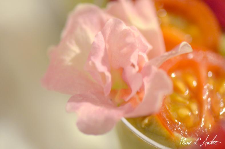 Repas de fleurs