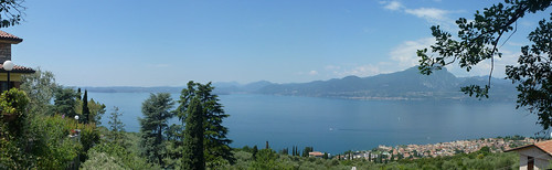 View of Torri & the lake from Le Sorte 5 july 2013