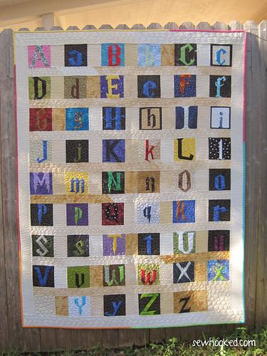Harry Potter Title Font Alphabet Quilt