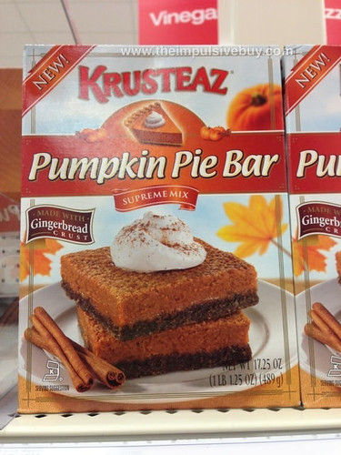 Krusteaz Pumpkin PIe Bar