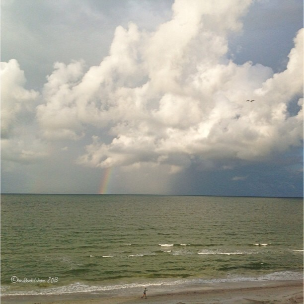Sep 22 - made me smile {waking up to a rainbow} #fmsphotoaday #gulfofmexico #rainbow #weather #florida