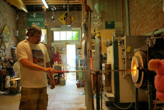 Glass Blower at His Furnace, Clarksville, Missouri, June 8, 2007