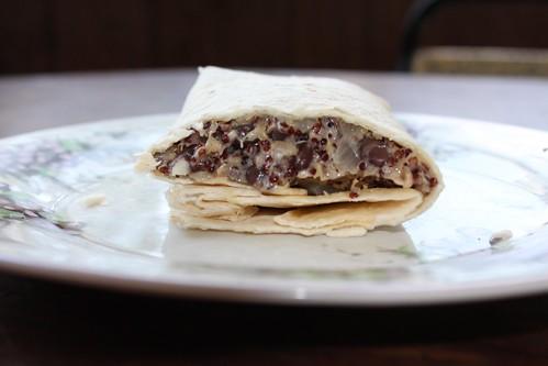 quinoa and black bean burrito