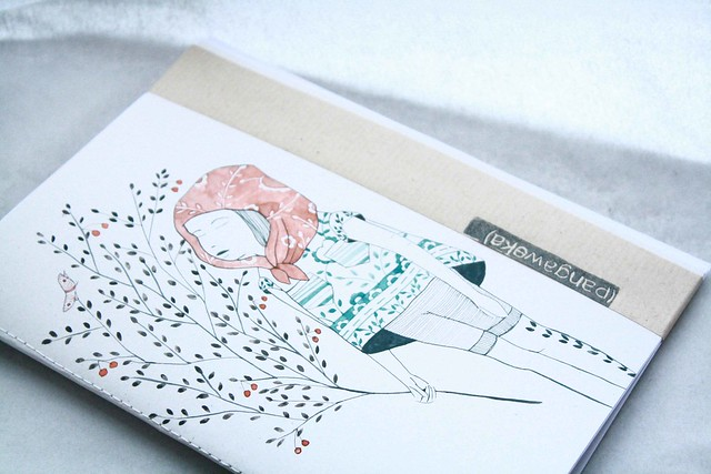 pangaweka hand illustrated notebook cherries