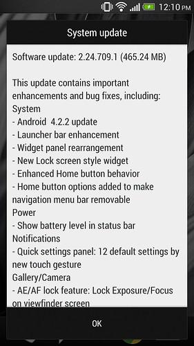 NEW HTC ONE UPDATE