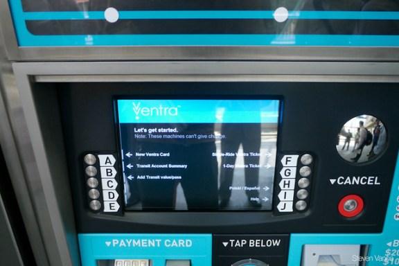 Ventra vending machine