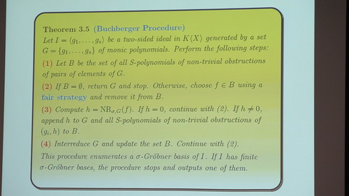 Grobner bases and permutation puzzles, according to Martin