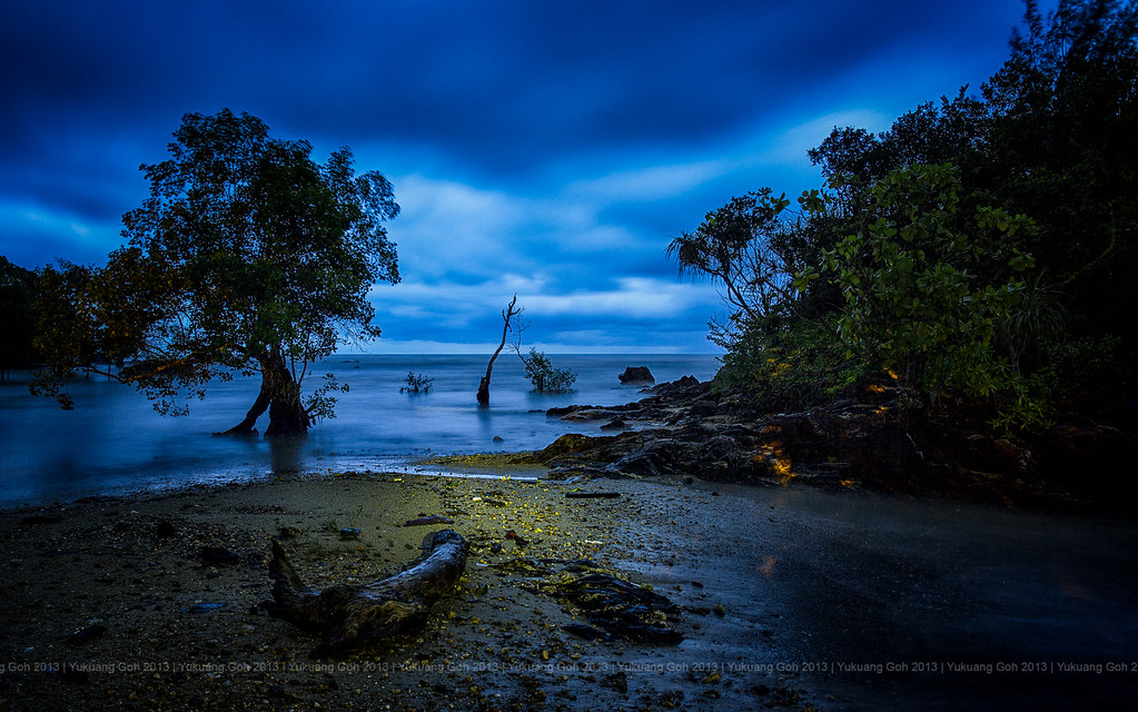 Blue hour by the waters