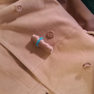 Time to repair the buttons on my favorite coat. #mending