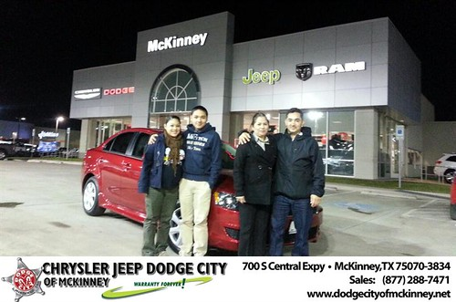 Thank you to Francisco Yvarra on your new 2013 #Mitsubishi #Lancer from Lyon Alizna and everyone at Dodge City of McKinney! #NewCarSmell by Dodge City McKinney Texas