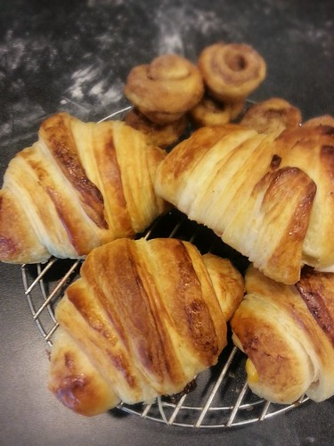 homemade ham and cheese croissants by pipsyq