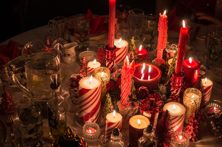 Centerpiece of Candles