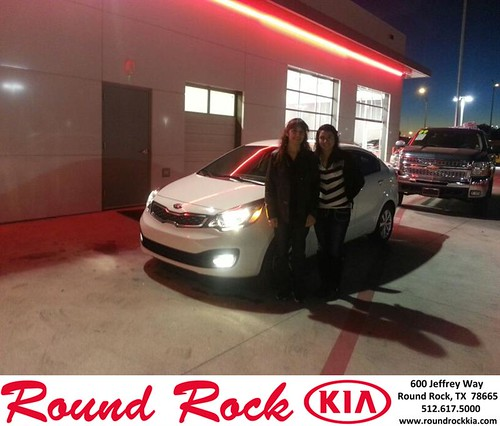 Thank you to Laurie Mitchell on your new 2013 #Kia #Rio from Rudy Armendariz and everyone at Round Rock Kia! #NewCarSmell by RoundRockKia