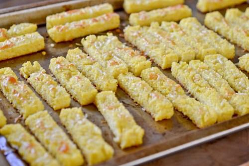 Baked Parmesan Polenta Fries-7