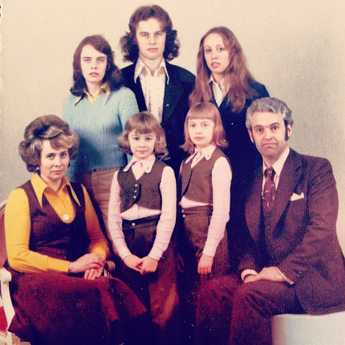 My grandparents with my mom and her siblings.