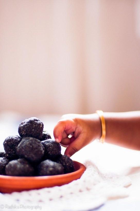 Black Sesame Seeds and Nuts Laddoo