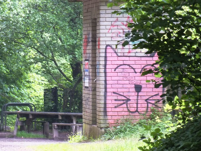 Lembo Street Art on Taff Trail, Cardiff.