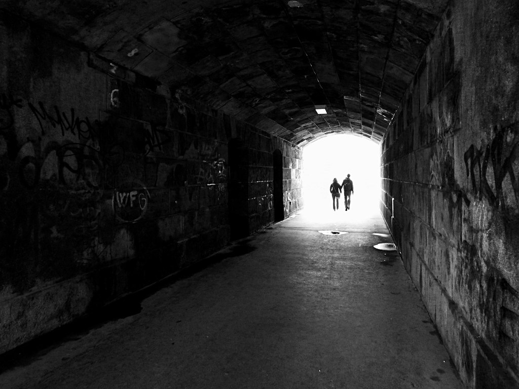 Light at the End of Tunnel B&W (edited)