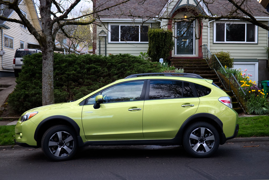 Our plasma green 2014 Subaru XV Crosstrek Hybrid Touring