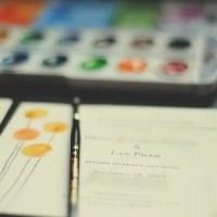 wedding | diy watercolor  invitations