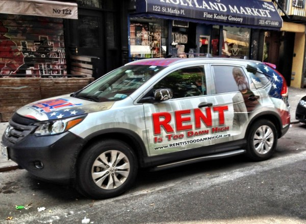 Rent is Too Damn High Car Jimmy McMillan