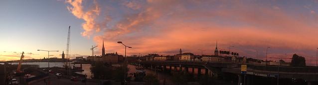 The first autumn sunset