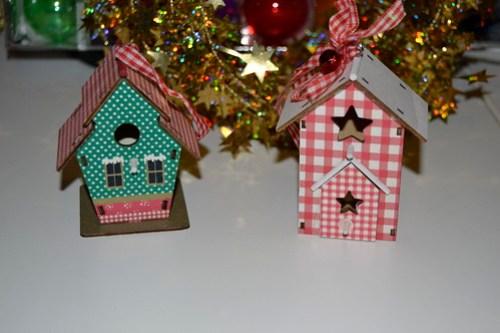 Casitas de pajaros - Adornos y manualidades navideñas