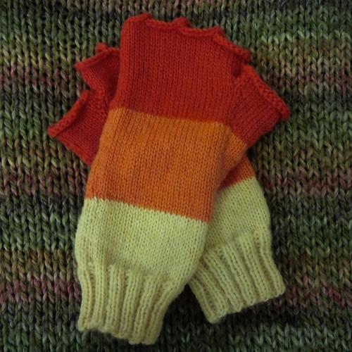 Fingerless gloves for Gillian