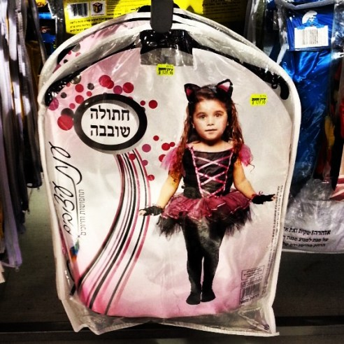 Naughty kitten Purim costume for girls