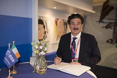 Signing ESTEC visitor's book