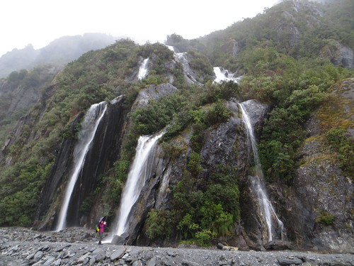 valley wall waterfalls