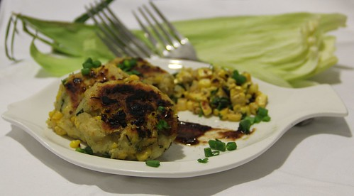 Roasted corn patties