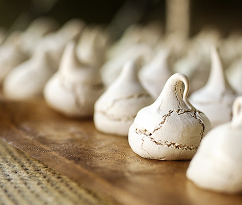 Cocoa Meringues - Baked