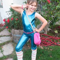 SJ dressed as the 1980s Aerobics Barbie from 'Toy Story 3'