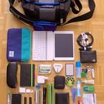 What's in my bag 15 Feb 2014 - Timbuk2 custom XS - all wool