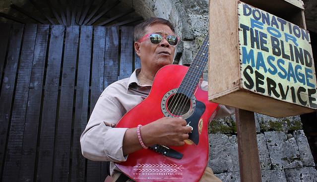 Fort San Pedro blind musician Cebu City