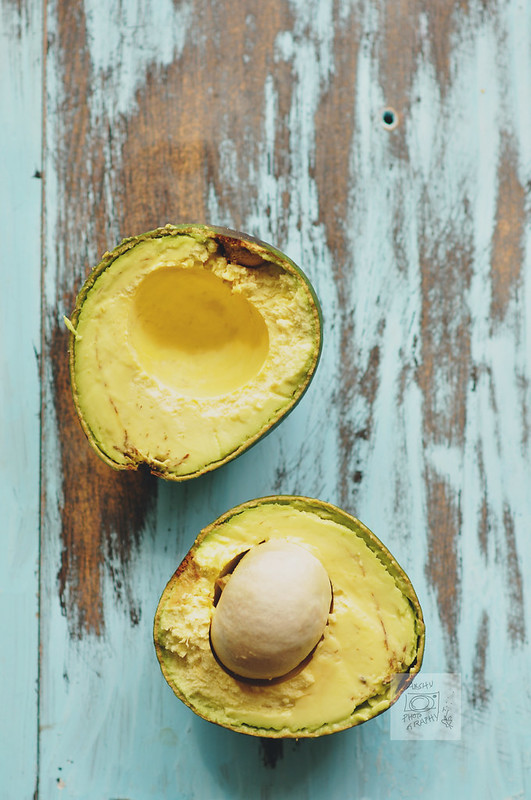 Day 241.365 – Avocado on Blue