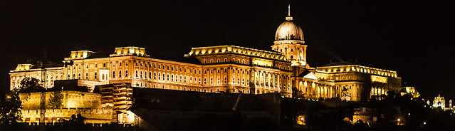Buda Castle at night, Budapest, Hungary
