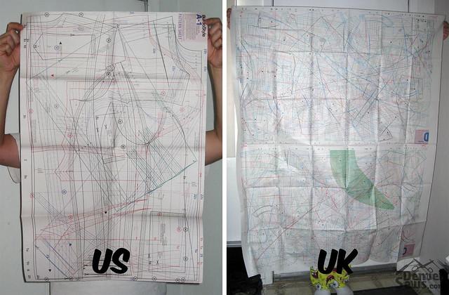 Pattern sheet comparison
