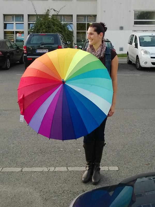 MoMA Colour Wheel Regenschirm