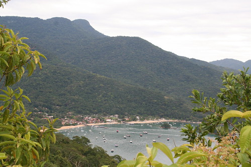 View of Vila do Abraão from the T10 trail