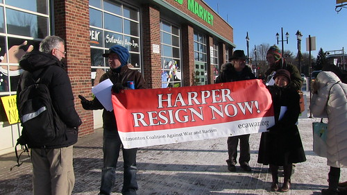 Harper Resign Now! ECAWAR Picket