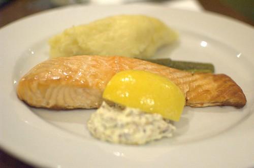 Pan-fried Atlantic salmon